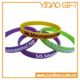Braccialetto del silicone colorato abitudine per le attività (YB-w-006)
