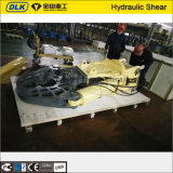 Machine de découpage par excavatrice Cisailles rotatives hydrauliques en ferraille pour excavatrice de 20 ton
