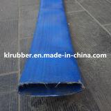 PVC de alta presión de la manguera de descarga de agua Layflat