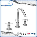 Faucet de lavatório de lavatório de três furos de 8 polegadas (AF0021-6)