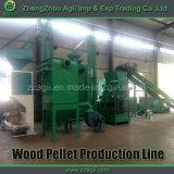 Desperdícios de madeira da biomassa planta de granulação de madeira Turnkey completa de 1 tonelada