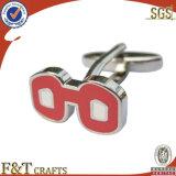 Gepersonaliseerde Goedkope Zilveren Cufflinks van het Metaal van het Email Fabrikant