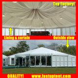 展覧会の直径15mのためのFastupの製造業者の堅い壁のマルチ側面のテント250人のSeaterのゲスト
