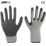 Перчатки покрынные нитрилом трудные защитные промышленные работая (NS001)
