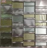 Mosaico Aluminiun y vidrio, metal Mosaico