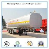 Semirremolque de remolque de tanque de transporte de líquidos químicos con 3 ejes