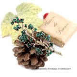 Juwelen van de Broche van het Bergkristal van Brotheroch van de Legering van de Tak van de manier de Verse en Mooie