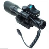 Tactical 2.5-10X40 Rifle Scope W / Green Laser & Mini Reflex 3 Moa Red DOT Sight