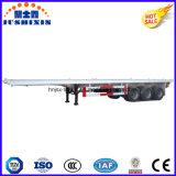 Tri des essieux 20/40FT de lit plat de conteneur remorque semi à vendre