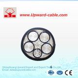 câble d'alimentation de PVC de bande de l'aluminium XLPE de PVC Isnulation (quatre faisceaux) de conducteur du Cu 0.61kv