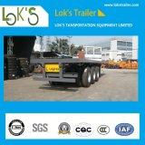 2販売のための車軸20FT容器のプラットホームのトラックのトレーラー