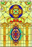 Kathedrale-Glas-Digital-Drucken strich gekopierte ausgeglichene lamellierte aufbauende Fenster-Glas-Tür an