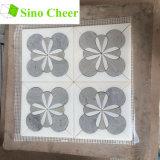 유고슬라비아 백색 혼합 벽과 마루를 위한 회색 대리석 모자이크 제트기 도와 패턴