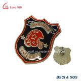 Lleno de esmalte personalizada alfiler de metal de bronce para el equipo insignia