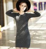 Vestido da caxemira das mulheres com a garganta redonda do cabo (13brdw041)