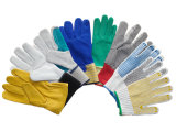 Перчатки Перчатки безопасности рабочих перчаток ПВХ Пунктирные перчатки хлопчатобумажные перчатки, нейлон нитриловые Перчатки ПВХ Перчатки кожаные перчатки Сварка перчатки