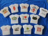 Formato personalizado de algodão comprimido Camiseta/T-shirt/T shirts