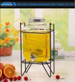 Boissons de fruits boisson en verre de vin de distributeur avec robinet Jar