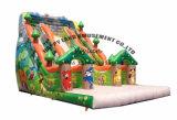 喝采の娯楽子供の屋外のジャングルの膨脹可能なスライド