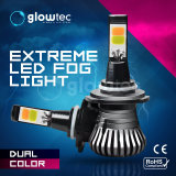 Luz antiniebla coche LED de color doble H1, H3 H7, H8, H11, 9005, 9006 880 881 80W