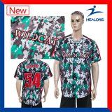 Healong Sublimated Custom Design Team Shirts Jersey de baseball