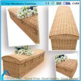 자연 길쌈한 버드나무 고리 버들 세공 아기 또는 아이 관 관을 손으로 만들십시오