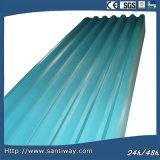 Lamiera di acciaio ondulata per tetto e la parete