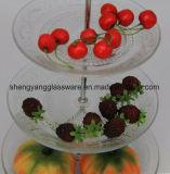 Стеклянные блюда формы 3 горячего надувательства популярные/стеклянная пластинка венчания стеклоизделия