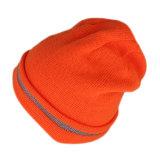 Protezione del Beanie lavorata a maglia inverno acrilico arancione di modo