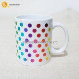Tazza di caffè di ceramica di abitudine 11oz con stampa del Rainbow