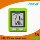 Velocímetro verde del odómetro de la bicicleta (JS-2161)