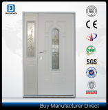 Center Arch Vidrio Decorativo Acero Exterior Prehung Door Half Sidelite