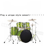 Jogo do cilindro do jazz do PVC da pintura dos instrumentos de música 5PCS da percussão