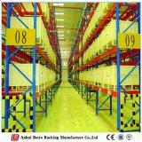 Euro défilement ligne par ligne Poudre-Enduit de système de Palleted de la meilleure de qualité mémoire lourde d'entrepôt