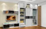 Guardaroba di legno bianco lucido per la mobilia dell'hotel (zy-022)