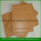 Porta de gabinete por atacado da cozinha do MDF da membrana do PVC do projeto moderno