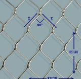 Rede inoxidável flexível do cabo entrançado de aço