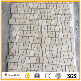 Mosaicos de travertino bege, Mosaico de Pedra, trapézio mosaicos de mármore