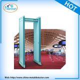 Camminata di obbligazione del blocco per grafici di portello tramite il cancello del metal detector