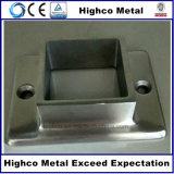 Base cuadrada de acero inoxidable brida para barandilla y balaustrada