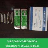Lame de scalpel chirurgicale en acier inoxydable stérile jetable jetable (SC-SB001)