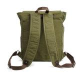 Оптовая цена прочного 16oz Вакси Canvas рюкзак для учащихся школ
