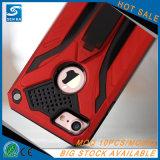 Nueva caja a prueba de choques del teléfono con Kickstand para el iPhone 7/7 más