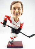 Polyresin Bobble die kundenspezifische Sport-Eis-Hockey-Unterhaltung Kopf (HG-026)