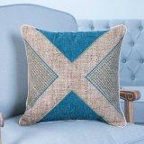 Met de hand gemaakt Decoratief Kussen/Hoofdkussen met het Geometrische Patroon van het Lapwerk (mx-51)