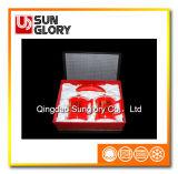 Caneca vermelha de China de osso do decalque com a caixa de presente de GB005