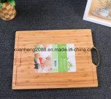 Доска 100% качества еды сертификата УПРАВЛЕНИЕ ПО САНИТАРНОМУ НАДЗОРУ ЗА КАЧЕСТВОМ ПИЩЕВЫХ ПРОДУКТОВ И МЕДИКАМЕНТОВ LFGB Bamboo прерывая