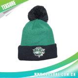 El invierno hecho punto gorrita tejida simple modificado para requisitos particulares abofeteó el sombrero con la bola (106)