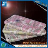 iPhone 7/7plusのための熱いきらめきの粉3in1 TPUの電話箱