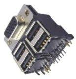 Connettore D-SUB H.D 15s/USB della pila di D-SUB un tipo